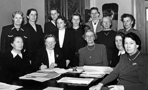 SF:s centralstyrelseårsmöte, styrelse och redaktion samlad. Stockholm 29-31 januari 1943.